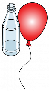 Balloon with bottle