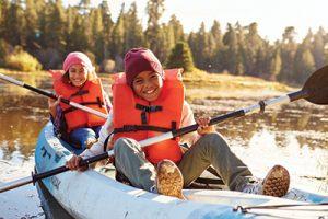 Kids kayak water safety